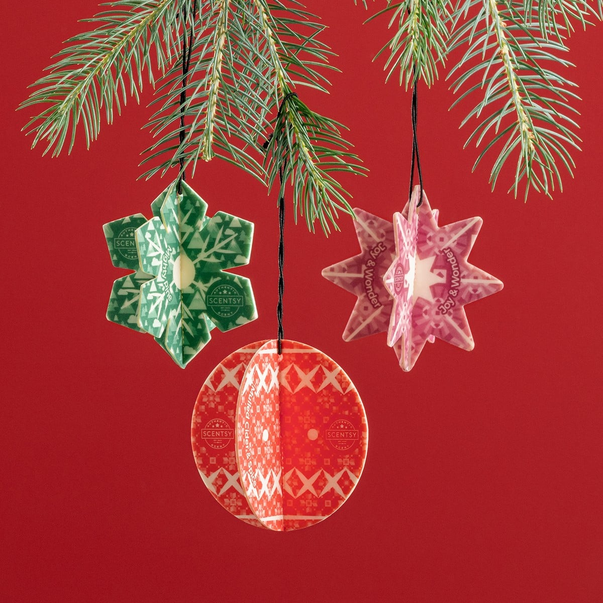 3d Scentsy Scent Circles Holiday | Holiday 3D Scentsy Scent Circle 3 Pack