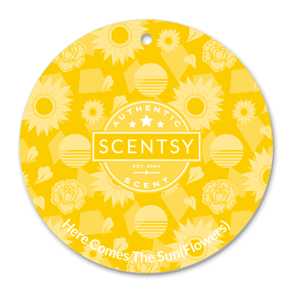 HERE COMES THE SUN (FLOWERS) SCENTSY SCENT CIRCLE