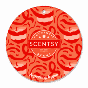 A PEELING APPLE SCENTSY SCENT CIRCLE