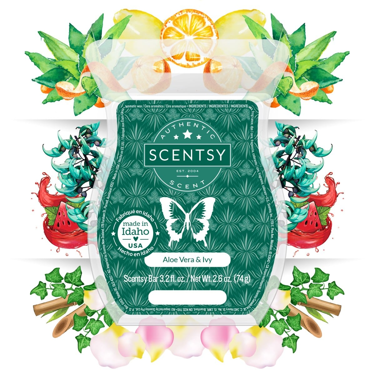 ALOE VERA AND IVY DESCRIPTION SCENTSY BAR