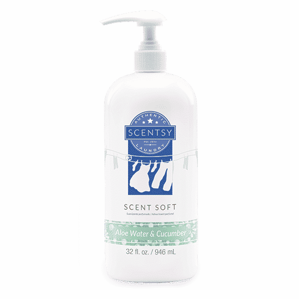 ALOE WATER & CUCUMBER SCENT SOFT | NEW! ALOE WATER AND CUCUMBER SCENTSY SCENT SOFT FABRIC SOFTENER | Shop Scentsy | Incandescent.Scentsy.us