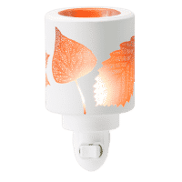 AMBER LEAVES SCENTSY NIGHTLIGHT MINI WARMER