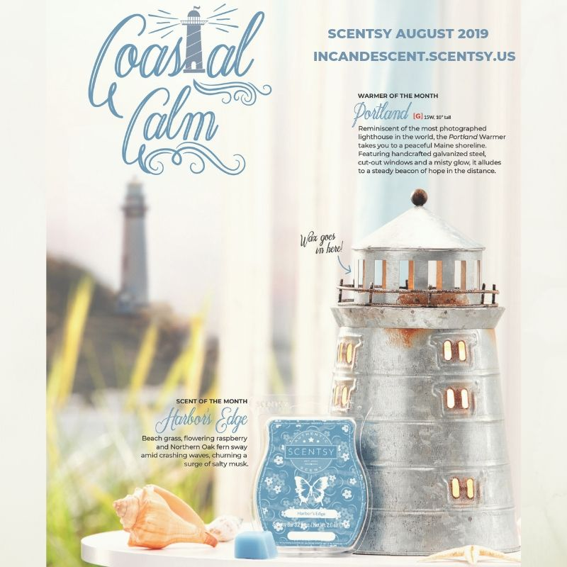 PORTLAND SCENTSY WARMER AUGUST 2019 SPECIAL