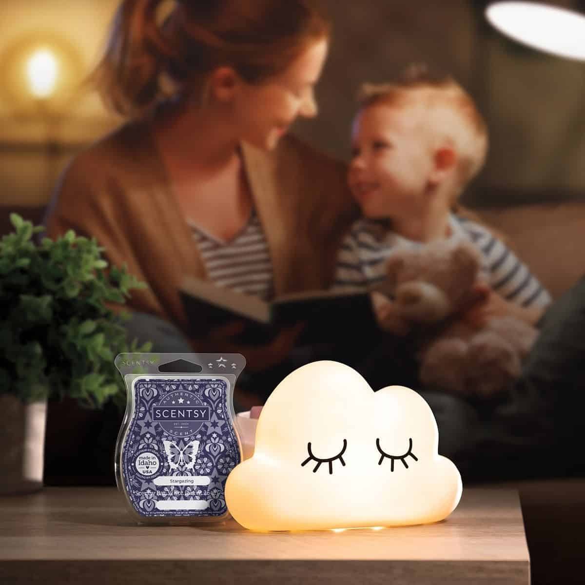 Scentsy July 2021 Warmer & Scent of the Month | Above the Clouds Warmer & Stargazing Fragrance