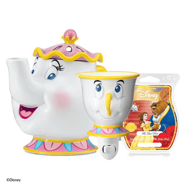 BEAUTY AND THE BEAST CHIP MRS POTTS BE OUR GUEST BUNDLE | Be Our Guest Scentsy Warmer Bundle | Disney Beauty & The Beast