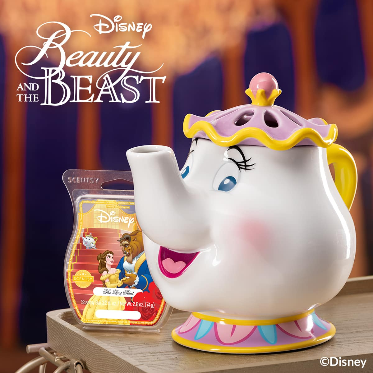 BEAUTY AND THE BEAST MRS POTTS | NEW! Beauty & The Beast Scentsy Collection | Mrs. Potts & Chip the Teacup Scentsy Warmers | Shop Now
