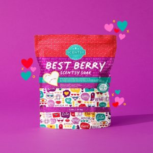 BEST BERRY SCENTSY SOAK VALENTINES