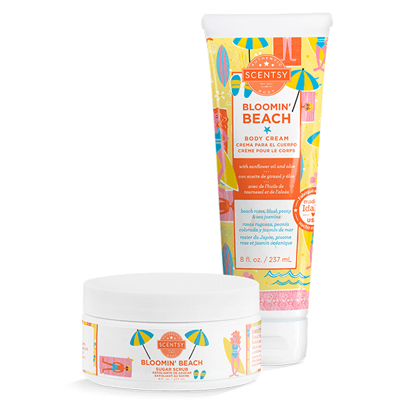 BLOOMIN BEACH SCENTSY SPA BUNDLE | NEW! Bloomin' Beach Scentsy Spa Bundle | Mother's Day 2021 | Incandescent.Scentsy.us