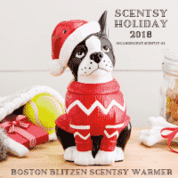 BOSTON TERRIER BLITZEN SCENTSY WARMER