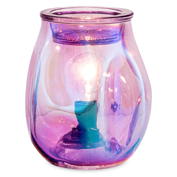BUBBLED ULTRAVIOLET SCENTSY WARMER GLOW