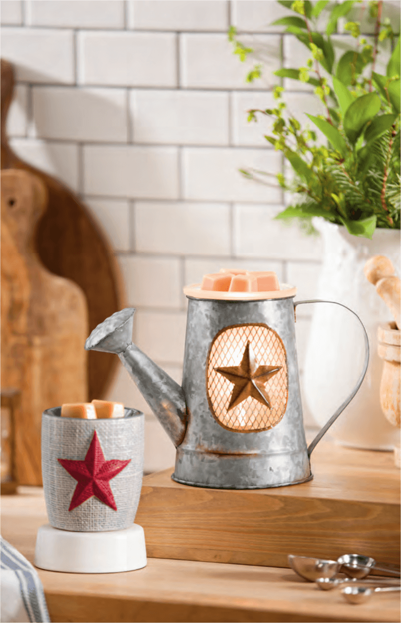 NEW BURLAP STAR SCENTSY NIGHTLIGHT MINI WARMER