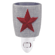 BURLAP STAR SCENTSY NIGHTLIGHT MINI SCENTSY WARMER
