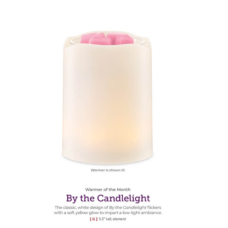 BY THE CANDLELIGHT FEBRUARY 2020 SCENTSY WARMER & SCENT OF THE MONTH (2)   SCENTSY FEBRUARY 2020 WARMER & SCENT OF THE MONTH - BY THE CANDLELIGHT WARMER & STRAWBERRY ROSE