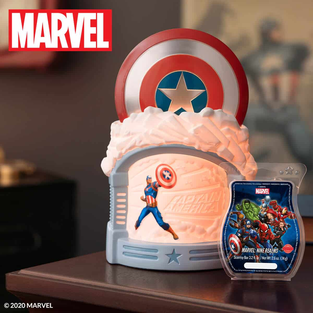 MARVEL: CAPTAIN AMERICA, SPIDER-MAN, IRON MAN SCENTSY WARMERS