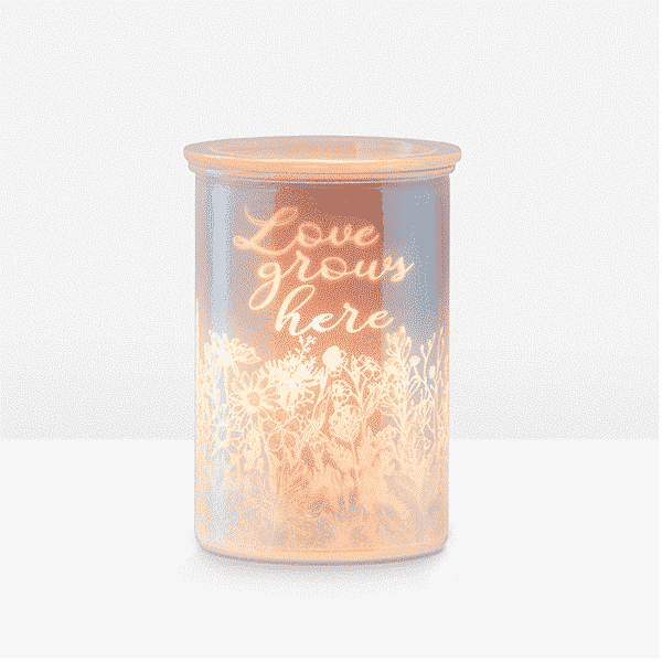 CAST PINK SCENTSY WARMER LOVE GROWS HERE | Cast - Pink Scentsy Warmer with Spring Pack | February 2021