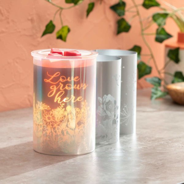 CAST PINK SCENTSY WARMER WITH LOVE GROWS HERE INSERT | Cast - Pink Scentsy Warmer with Spring Pack | February 2021