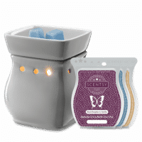 CLASSIC CURVE GRAY SCENTSY WARMER GIFT BUNDLE