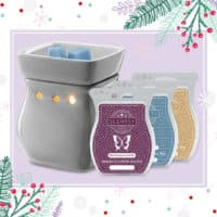 CLASSIC GRAY SCENTSY WARMER & WAX BUNDLE | SCENTSY JANUARY 2019 WARMER & SCENT OF THE MONTH - ILLUMINATE SCENTSY WARMER & STRAWBERRY CHAMPAGNE TRUFFLE