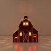 COUNTRY CHRISTMAS RED BARN SCENTSY CHRISTMAS WARMER GLOW   COUNTRY CHRISTMAS RED BARN SCENTSY WARMER