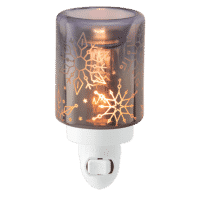 CRYSTAL CHRISTMAS SCENTSY MINI WARMER FRONT