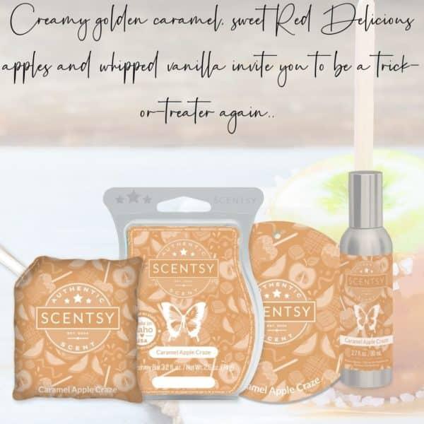 Caramel Apple Crazy Scentsy Fragrance | Caramel Apple Craze Scentsy Scent Circle