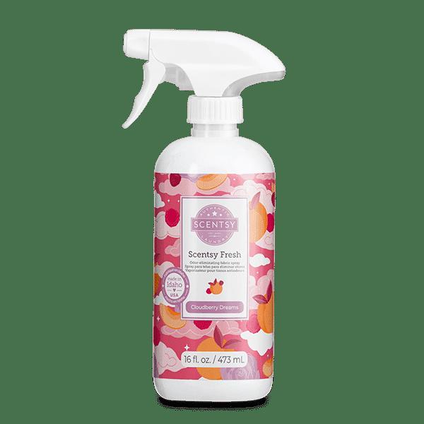 Cloudberry Dreams Scentsy Fresh | NEW! Cloudberry Dreams Scentsy Fresh Fabric Spray | Incandescent.Scentsy.us