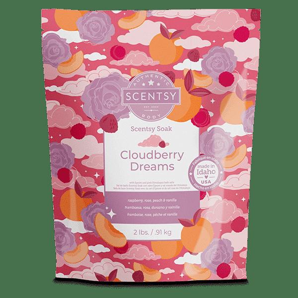 Cloudberry Dreams Scentsy Soak | NEW! Cloudberry Dreams Scentsy Bath Soak | Incandescent.Scentsy.us