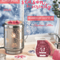 SCENTSY DECEMBER 2018 WARMER & SCENT OF THE MONTH - SOLITUDE SCENTSY WARMER & CHRISTMAS CUDDLES