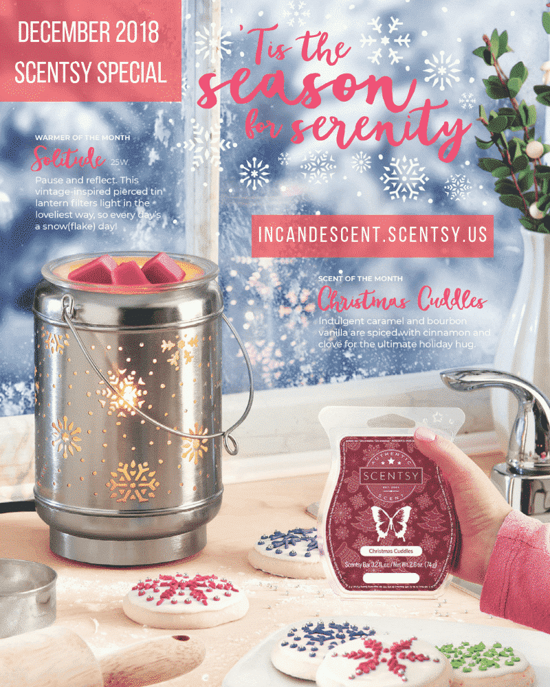 DECEMBER 2018 WARMER & SCENT OF THE MONTH - SOLITUDE WARMER & CHRISTMAS CUDDLES FRAGRANCE | SCENTSY DECEMBER 2018 WARMER & SCENT OF THE MONTH - SOLITUDE SCENTSY WARMER & CHRISTMAS CUDDLES | Scentsy® Online Store | Scentsy Warmers & Scents | Incandescent.Scentsy.us