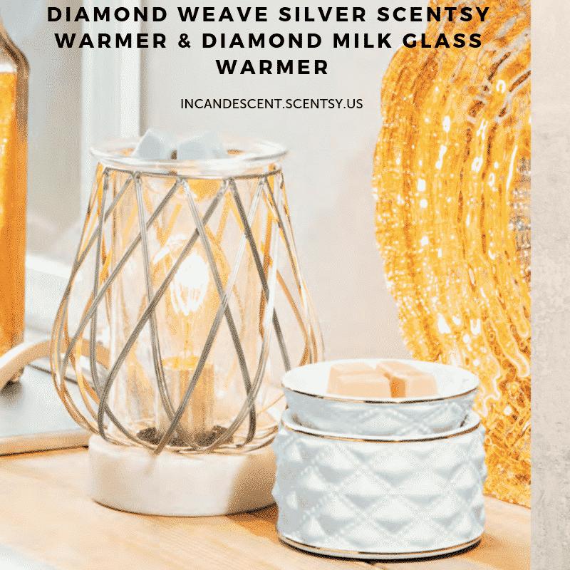 New Diamond Weave Silver Scentsy Warmer Scentsy 174 Buy