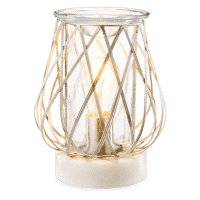 DIAMOND WEAVE SILVER SCENTSY WARMER