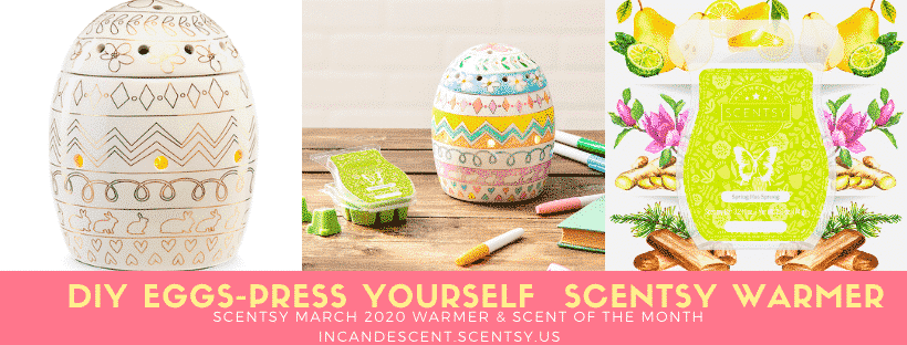 SCENTSY MARCH 2020 EGGS-PRESSYOURSELF COLORING WARMER