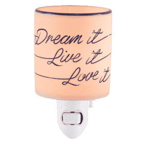DREAM IT LIVE IT LOVE IT SCENTSY MINI WARMER
