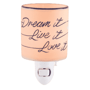 NEW! DREAM IT LIVE IT LOVE IT NIGHTLIGHT MINI SCENTSY WARMER | Shop Scentsy | Incandescent.Scentsy.us