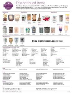 SCENTSY DISCONTINUED FALL WINTER 2019