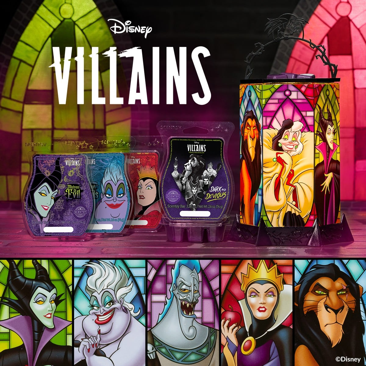 NEW! Scentsy – Disney Villains Collection  | Villains All The Rage Scentsy Warmer & Scents | Fall 2021
