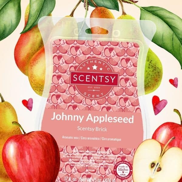 FALL SCENTSY JOHNNY APPLESEED BRICK