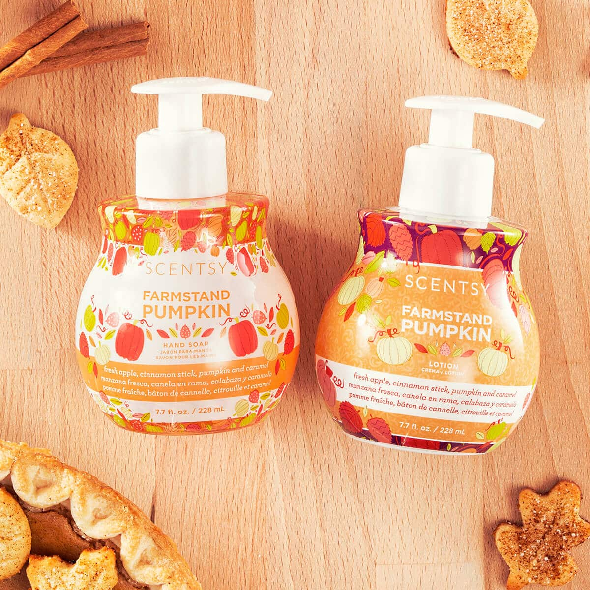 New Farmstand Pumpkin Scentsy Hand Soap And Lotion Bundle