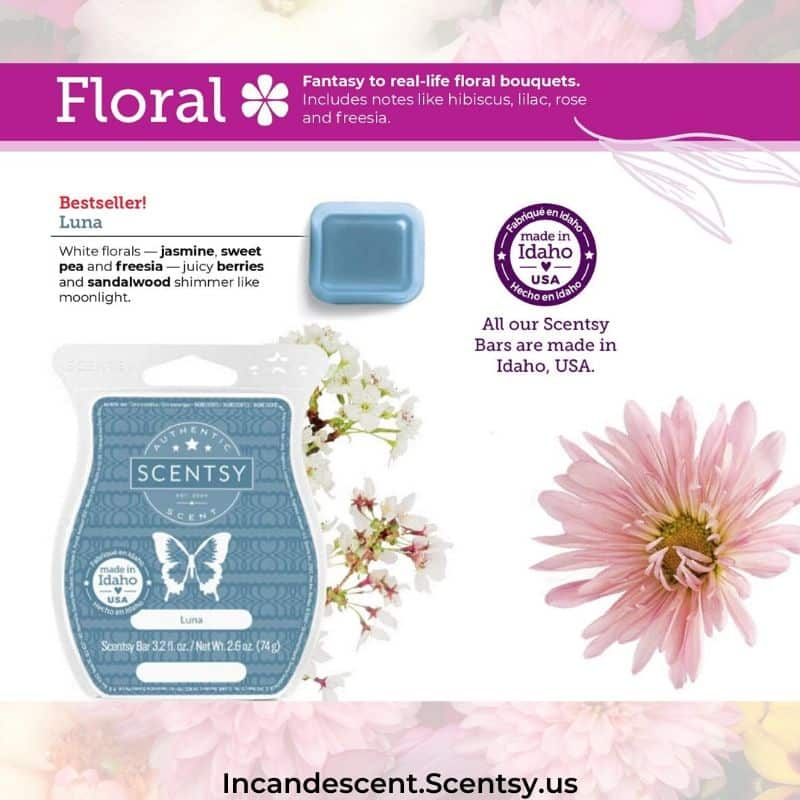 FLORAL FRAGRANCES SCENTSY FALL 2020 CATALOG