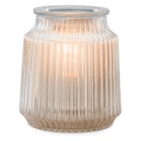 FLUTED GRAY SCENTSY WARMER
