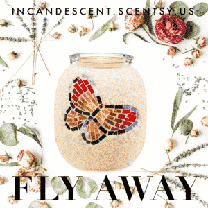 FLY AWAY BUTTERFLY MOSAIC SCENTSY WARMER SS19
