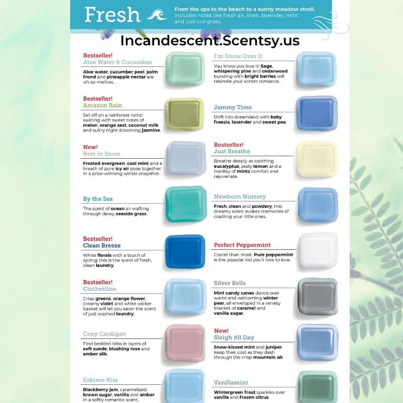 FRESH FRAGRANCES SCENTSY FALL 2020 CATALOG