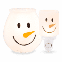FROSTY GLOW SCENTSY WARMER AND MINI WARMER BUNDLE