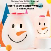 FROSTY GLOW SCENTSY WARMER & MINI WARMER