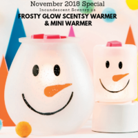 FROSTY GLOW SCENTSY WARMER & MINI WARMER