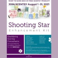 Fall 2021 Join and Earn Shooting Star Kit for FREE 3 | Scentsy August 2021 Warmer & Scent of the Month - Night Sky Scentsy Warmer & Vanilla Blackberry