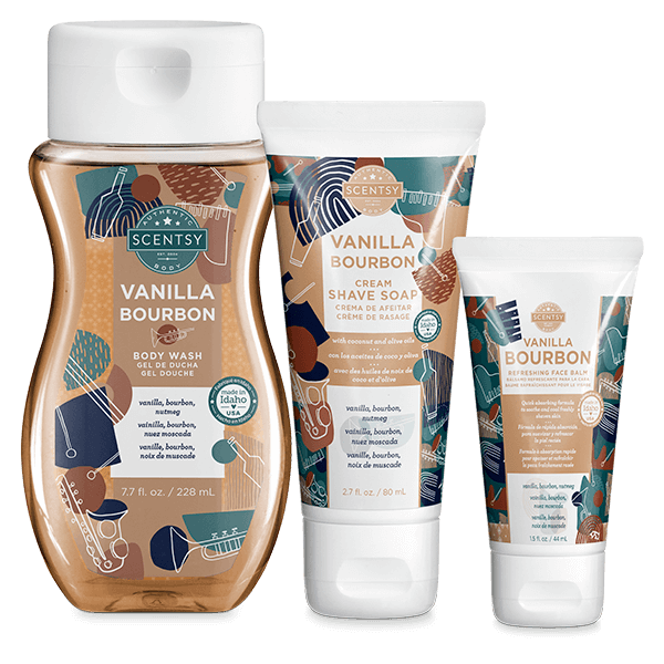 Fathers Day Body Bundle — Vanilla Bourbon   NEW! Scentsy Vanilla Bourbon Body Bundle   Scentsy Father's Day 2021   Incandescent.Scentsy.us