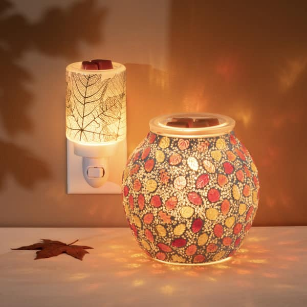 Forever Fall Gilded Leaves Mini Scentsy Warmer | NEW! Forever Fall Scentsy Warmer | Incandescent.Scentsy.us