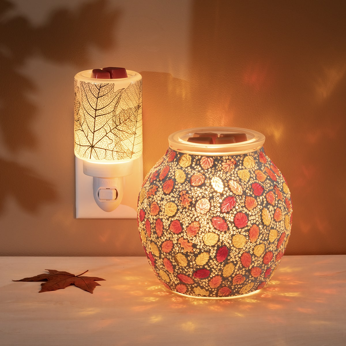 Forever Fall Gilded Leaves Mini Scentsy Warmer   NEW! Forever Fall Scentsy Warmer   Incandescent.Scentsy.us