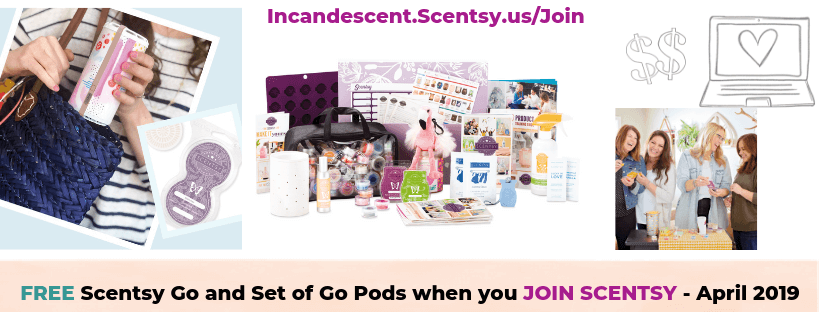 Free Scentsy Go and Set of Go Pods when you join Scentsy in April 2019